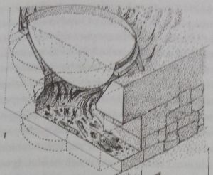 line drawing showing furnace at Caernarfon Castle